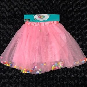 Pink Tutu Filled With Multicolored Balls